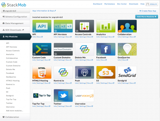 Screen Shot 2012 11 08 at 8.49.03 PM 520x394 With 40K apps supported, StackMob unveils marketplace and eliminates transaction based API call fees