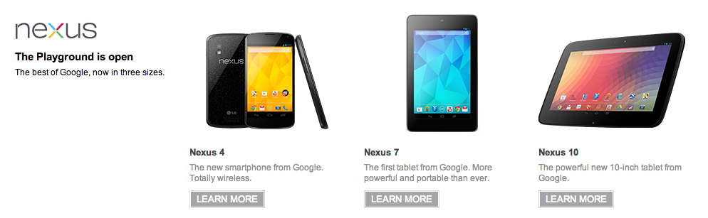 Screen Shot 2012 11 13 at 08.25.35 Googles Nexus 4, 3G Nexus 7 and Nexus 10 go on sale across Europe