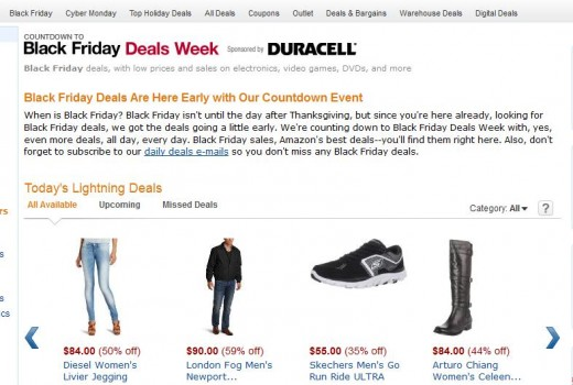 Screenshot 11 520x350 Amazons Black Friday store opens for business today