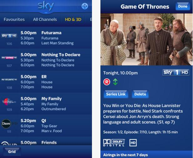 Screenshot 15 BSkyBs Sky+ iPhone app gets remote control functionality, recording planner and more