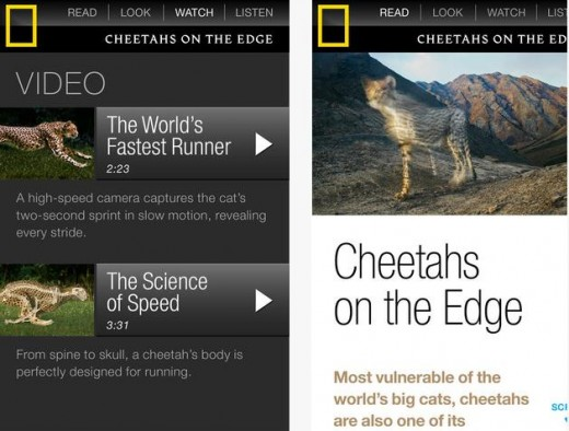 Screenshot 2 520x394 National Geographic makes its multimedia magazine available for iPhones