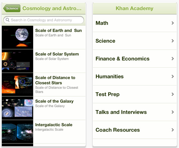 Snap 2012 11 23 at 15.32.41 Khan Academy updates iOS app to work on the iPhone with access to over 3,500 educational videos