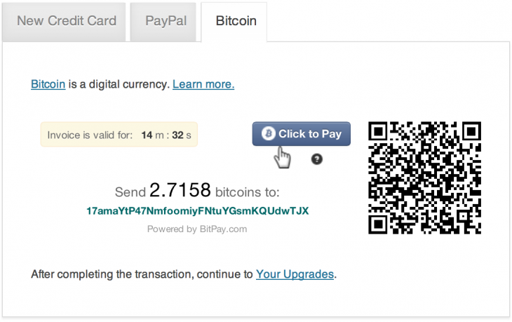 bitcoin1 730x459 WordPress.com criticizes PayPal, credit card firms for restrictions, now lets you pay with Bitcoin