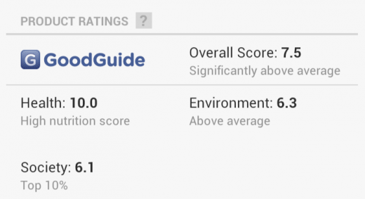 c2 520x283 Google Shopper 3.0 launches for Android and iOS, reeling in GoodGuide ratings and new UI