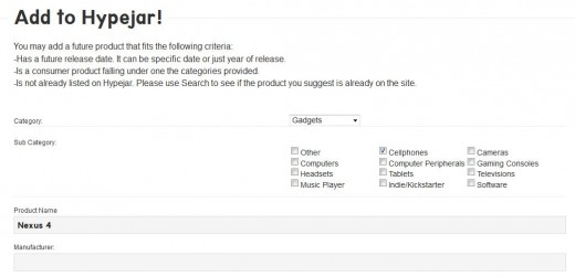 d3 520x251 TNW Pick of the Day: Hypejar is a Wikipedia style repository for upcoming product launches