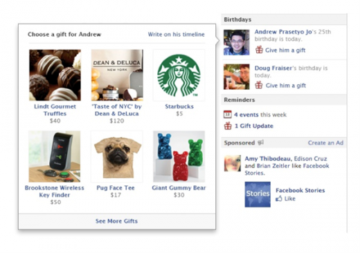 detail 1 520x366 Facebook expands Gifts program by rolling out to millions more users, adding new partners