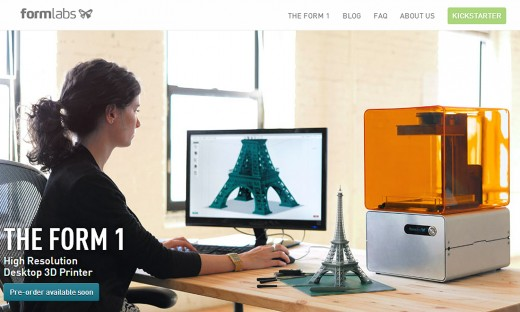 form labs site 520x312 Behind the rise of the 3D printing revolution
