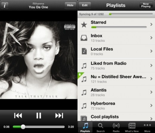 iphone spotify 520x445 Rejoice, Spotify for iOS gets iPhone 5 support at long last