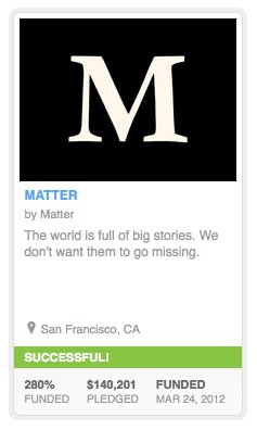 matter kickstarter Pocket partners with Matter, brings deep journalism to its read it later platform
