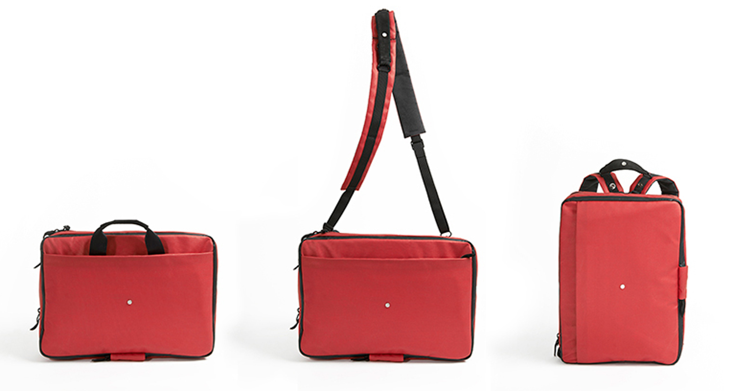 phorce three ways Waterproof Phorce laptop bag hits Kickstarter to charge your devices and alert you if you lose it