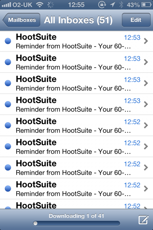 photo 11 520x780 HootSuite privacy fail sees hundreds of emails sent to users, complete with other peoples details [updated]