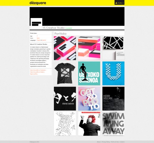 profile public 520x484 If 99designs and Dribbble had a baby, the result would be Dezquare
