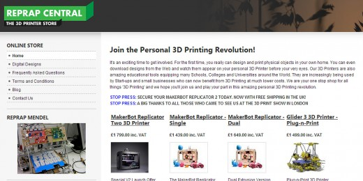 reprap central screen 520x260 Behind the rise of the 3D printing revolution