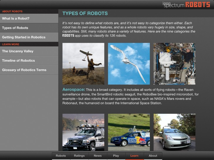 robots 1 730x547 IEEE Spectrum magazine unleashes an app that is prime reading for the robot uprising