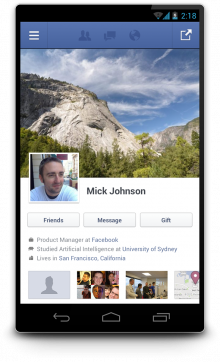 3 timeline phone 220x362 Facebooks Android app goes native, now available with updated with focus on speed and performance