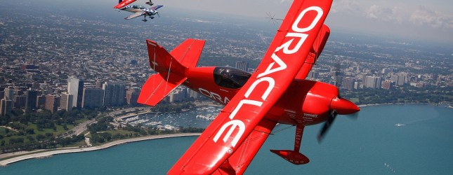 The Collaborators Fly During A Media Day Of The Chicago Air Show