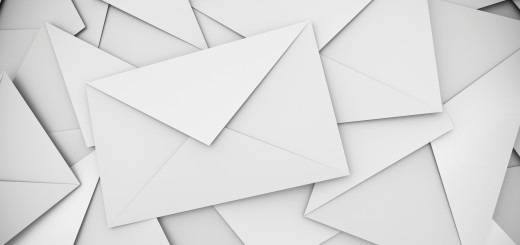 White envelopes background