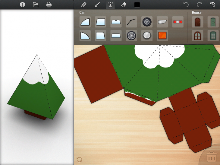 IMG 0030 730x547 Foldify glues together Papercraft, the iPad and AirPrint to create a rare and delightful experience