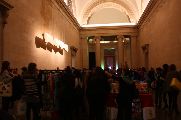 Main hall Etsy market 730x486 Etsy nails it with a night market event at Londons Tate Britain gallery