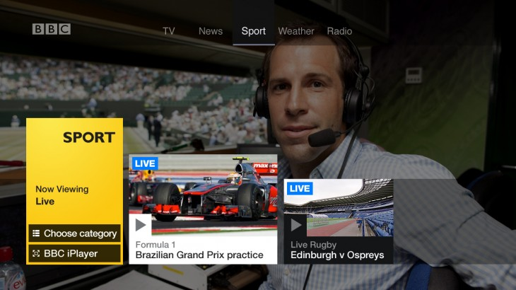 SPORT live 730x410 The BBC launches its new Connected Red Button for Virgin TiVo boxes, bridging the TV and Web divide