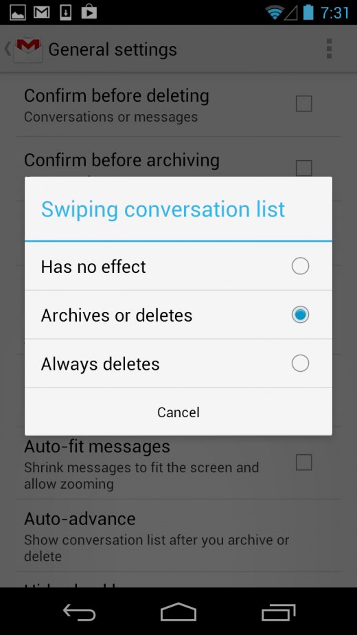 Screenshot 2012 12 03 19 31 44 520x924 Gmail 4.2 for Android brings swipe to archive, message zooming, bigger photos and more