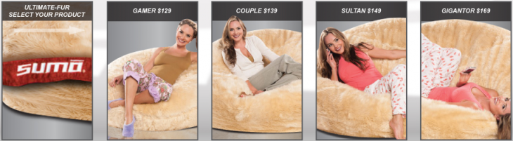 SumoUltimateFur 730x201 Sumo Lounge updates its geek essential beanbags with new cover choices