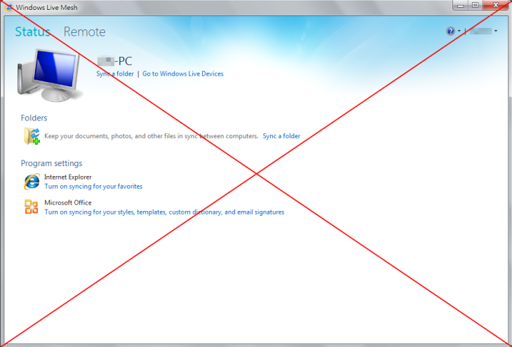 Windows Live Sync 730x495 Microsoft to kill Windows Live Mesh on February 13, users told to move their files to SkyDrive