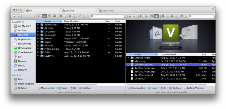 XtraFinderScreenshot7 730x352 XtraFinder: This must have app brings tabbed browsing to your Macs file system