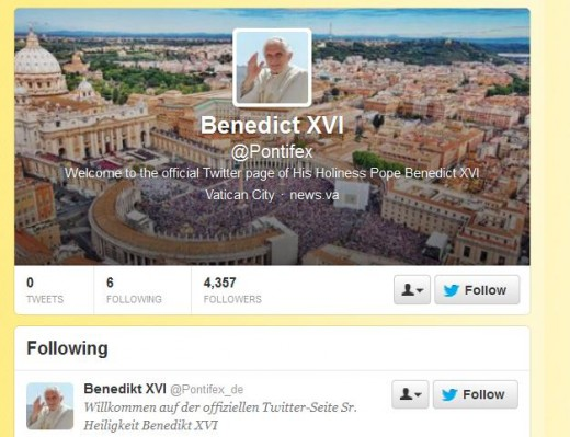 a 520x399 The Popes Twitter accounts go live in English and another six languages