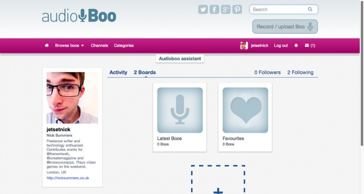 audioboo2 730x389 Audioboo redesigns its social audio platform, adding boards and categories along the way