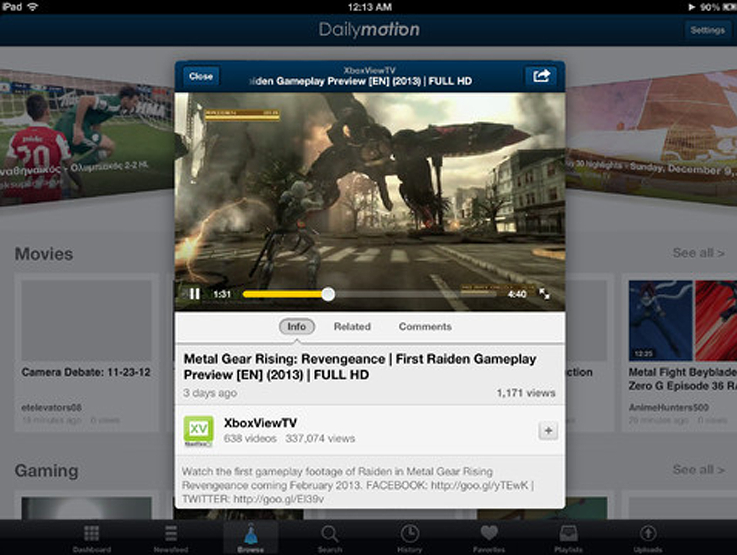 daily motion ios ipad Online video giant Dailymotion updates iOS app with a fresh UI and better playlist organisation