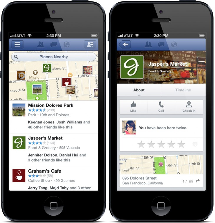 facebook nearby 730x757 Facebook refreshes 'Nearby' feature with discover and share options, rolling out for iOS and Android