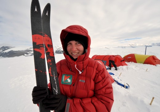 felicity aston antarctica 520x365 Pole party: Life and tech in Antarctica