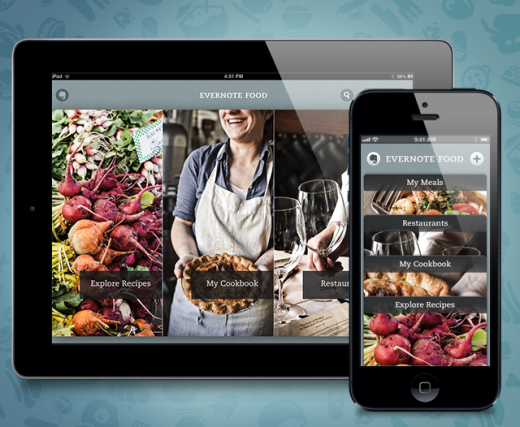 food2 launch 520x427 Evernote Food lands on iPad as iOS app gets new cookbook, recipe features