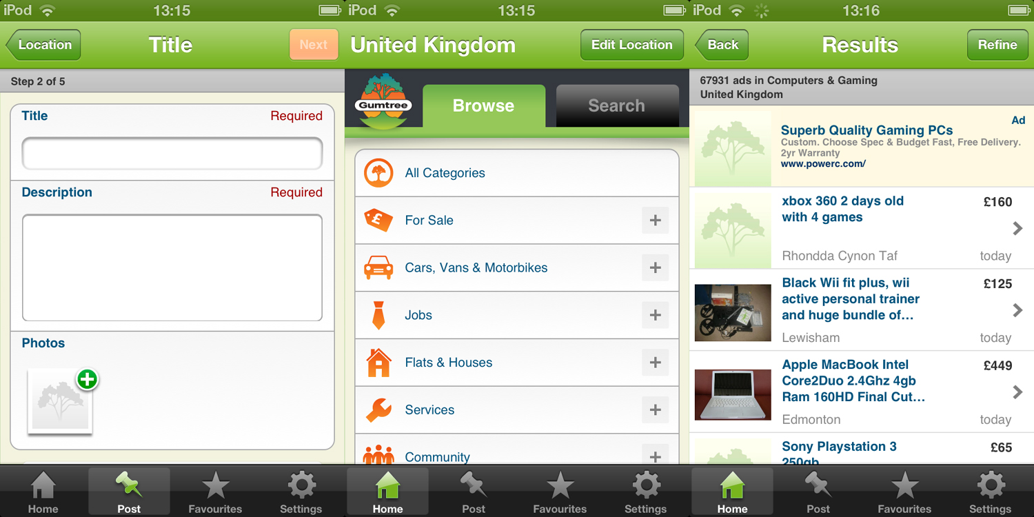 gumtree for ios Classified ad site Gumtree releases Android app for UK users and ad posting feature for iOS
