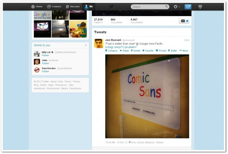instatweet 730x492 Forget the politics and BS, this simple Chrome extension brings Instagram photos back to Twitter