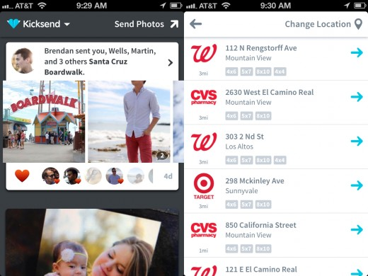 kicksend app screenshots 01 520x390 Kicksend now allows unlimited photo sharing, CVS and Target join Walgreens as printing partners