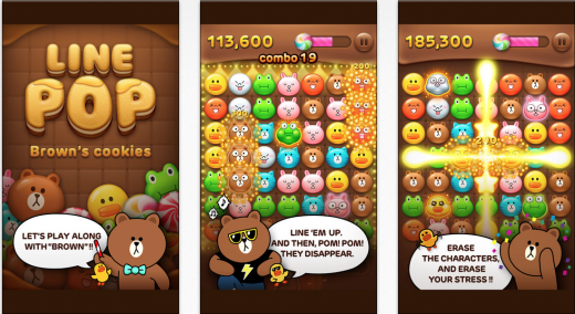 linepop 520x284 Navers viral Line Pop game is a beacon of hope for Asian messaging services looking to monetize