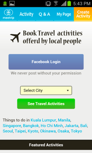 mt2 Meetrip, Asias cultural travel marketplace, launches Android guide apps for 12 countries
