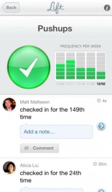 Obvious backed habit forming app Lift gets a clever programmatic push notification and Reminders system