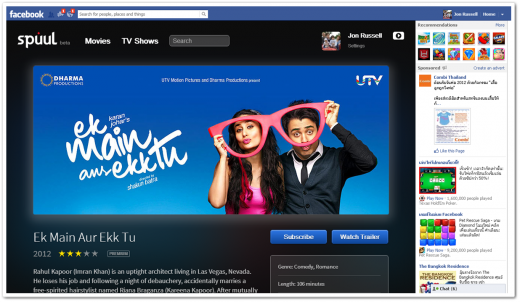 spuul 1 520x302 Spuul brings Bollywood and other Indian movies to Facebook with fully functional, elegant app