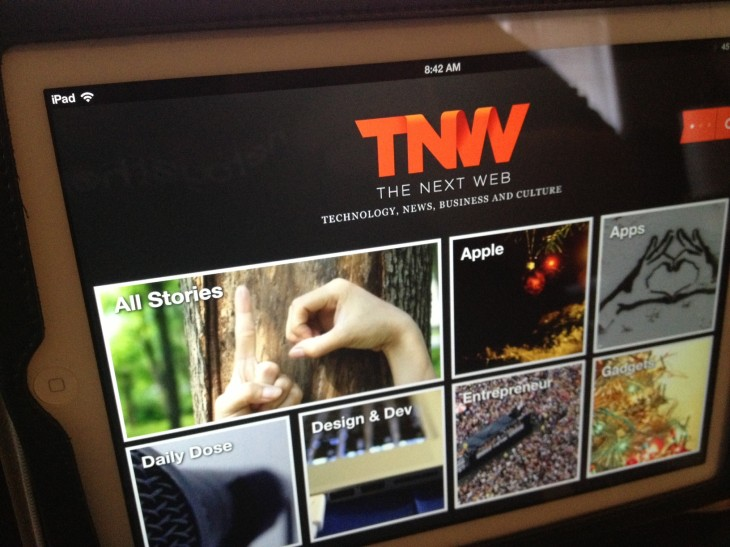 tnw ipad app 730x547 From Internet freedom to TNW Conference: A year at The Next Web