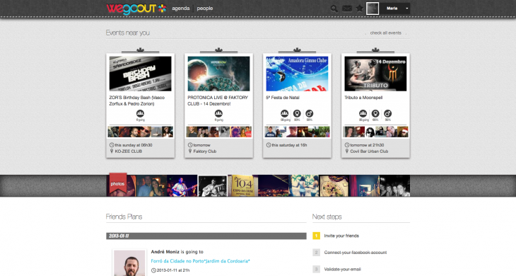 wegoout dashboard 730x390 Event discovery startup WeGoOut updates its iOS app and site to help you interact at parties
