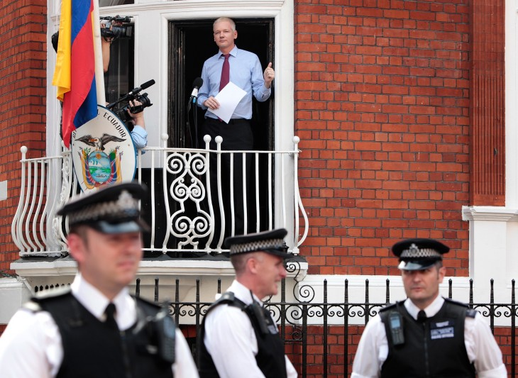 wikileaks julian assange at ecuadorian embassy via getty images 730x533 2012s biggest tech news in pictures