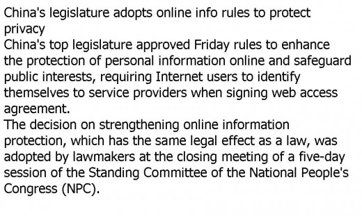Its done. China makes it mandatory for all Internet users to register with their real names