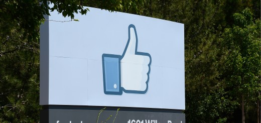 The sign at the entrance to the Facebook