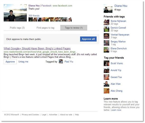 2625.Image 1 Shadow Microsoft expands Bing Tags to public results, lets you tag Facebook friends on Twitter and more