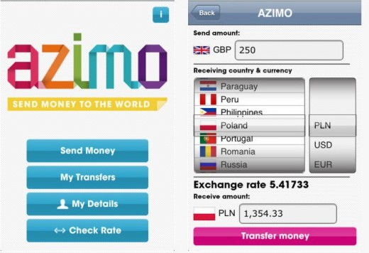 Azimo 520x356 Money transfer startup Azimo snags £300k to help take on TransferWise in the UK