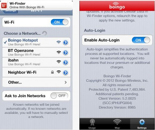 Boingo 520x436 Boingos updated iOS Wi Finder app now lets you spy a Boingo hotspot at a glance and log in automatically