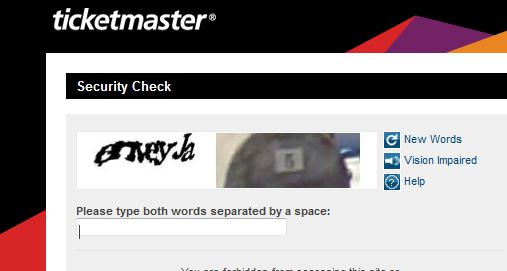 Captcha Good news music fans, Ticketmaster is ditching its CAPTCHA conundrums for something simpler